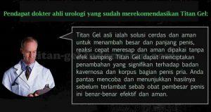 Pendapat dokter tentang Titan Gel