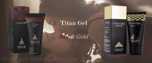 Titan Gel red and gold Indonesia